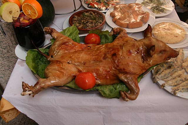 Cochinillo asado Spanish Dish