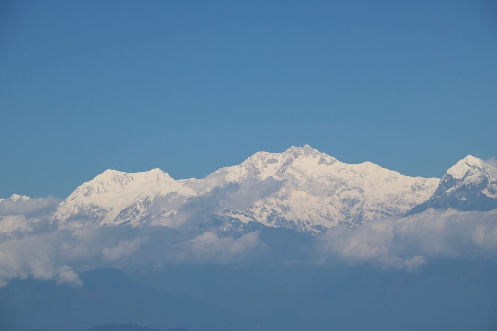 View from Darjeeling of The Mountain Kanchenjunga