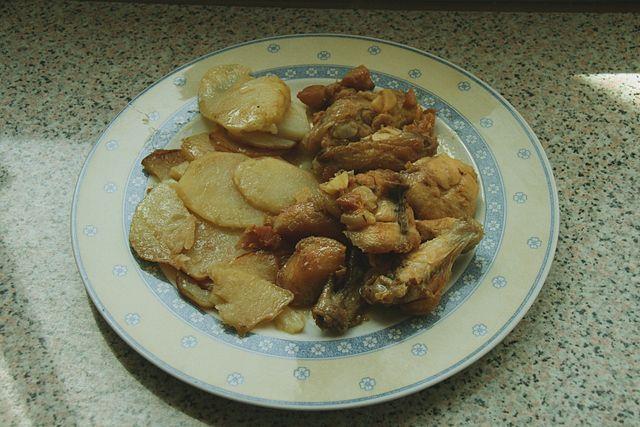 Spanish Dish Pollo al ajillo